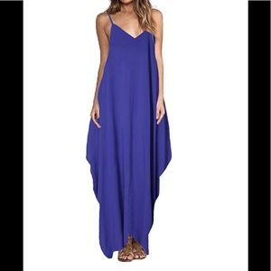 ZANZEA V-Neck Spaghetti Strap Long Maxi Dress